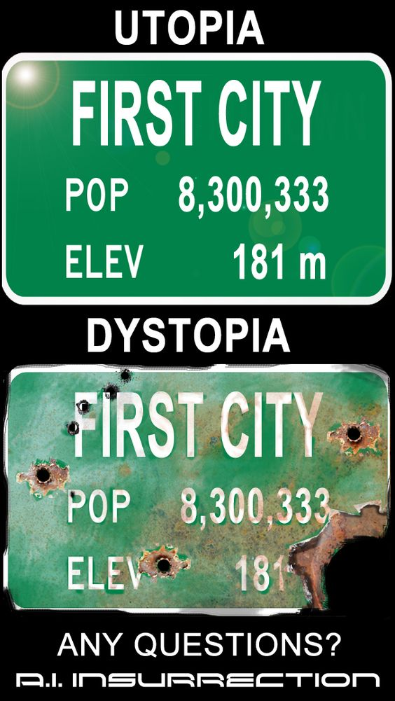Destroyed City SIgn